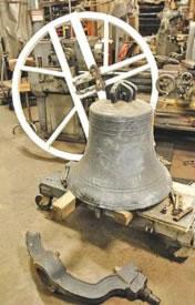 Broken chapel bell