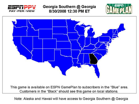 Coverage map for the season opener