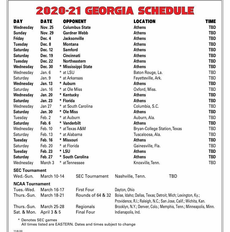 MBB schedule