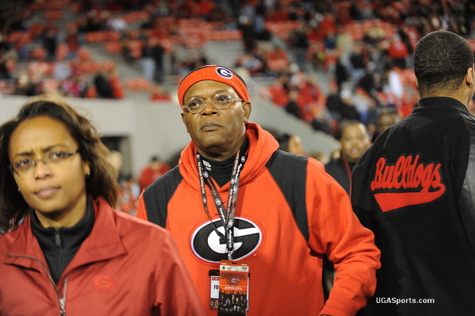 Samuel Jackson at UGA/Tech game